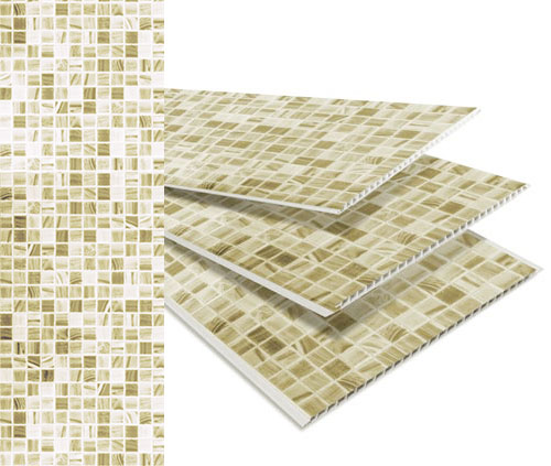 Painel PVC Top Luxo Mosaico Bege